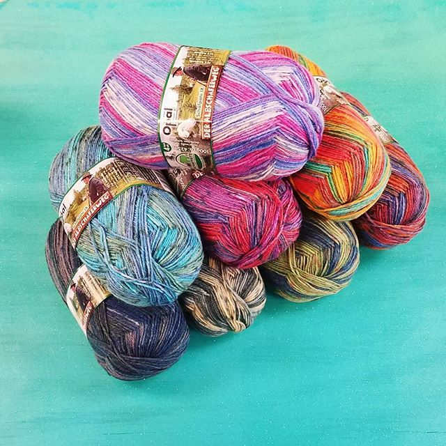 Latest Opal is here! Check out the 8 newest colors of this awesome sock yarn. #yarn #opalyarn #sockyarn #knitting #knitsocks #knittersofinstagram #schafpate