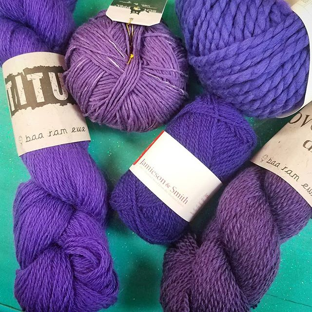 Are you loving Ultraviolet for Pantone's 2018 Color of the Year? We have you covered! #pantone2018 #ultraviolet #coloroftheyear #yarn #purpleyarn #knittersofinstagram #crochetersofinstagram