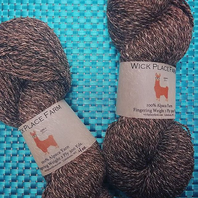 "We have a limited number of ""Turtle Sundae"" fingering-weight alpaca from Wick Place Farm in Caldonia! This super soft yarn blends 3 natural colors together and it's gorgeous! #yarn #alpaca #locallymade #knittersofinstagram #crochetersofinstagram #madeinwisconsin"