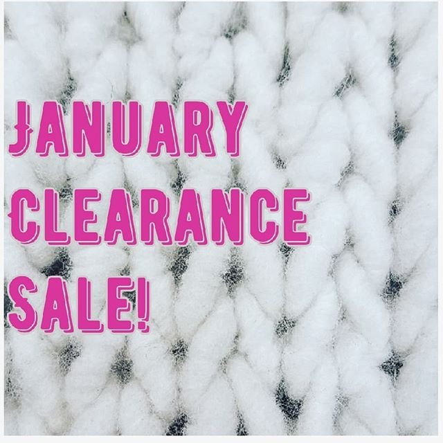 Out with the old and in with the new! We have a bunch of new clearance yarns and THIS WEEKEND ONLY we are marking them down extra low. Head on over and cozy up to some deals 👍💰❤