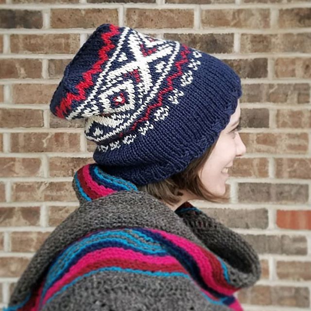 We love the Olympic Games! Check out our version of the Team USA hat ❤ Pattern is free on Ravelry and our website, yarn (@westyorkshirespinners BFL Aran) is available in store now and online very soon! ❄🏅🎉 #knithat #colorworkhat #strandedcolorwork #2018wintergameshat #woolandcottonco #teamusa #knitting #knittersofinstagram #knit