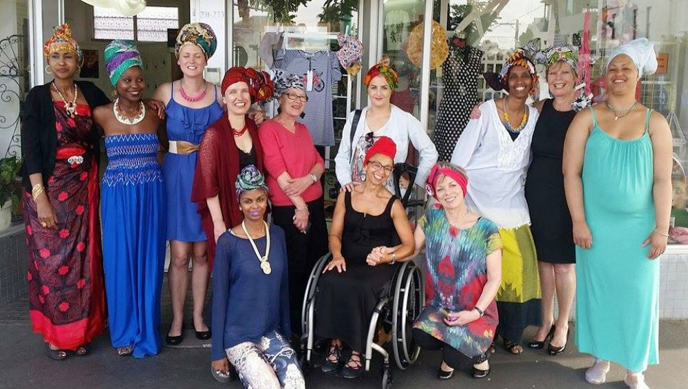 A photoshoot session with participants who attended our headwrapping workshop in Melbourne.