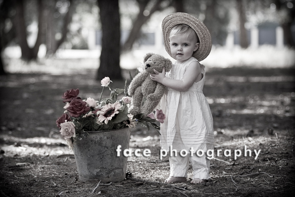 Vintage Kids Face Photography