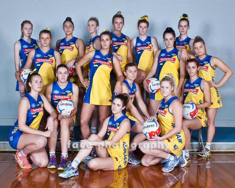 Newton Jaguars Netball Team _ face photography