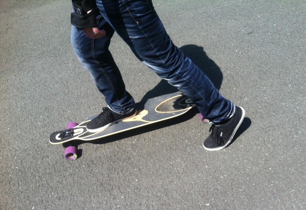 Puschen mit Longboard