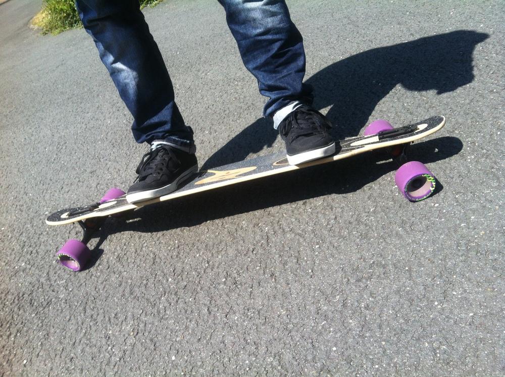 Lenken mit Longboard