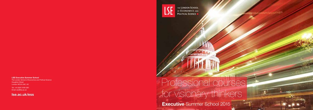 London School of Economics LSE Brochure