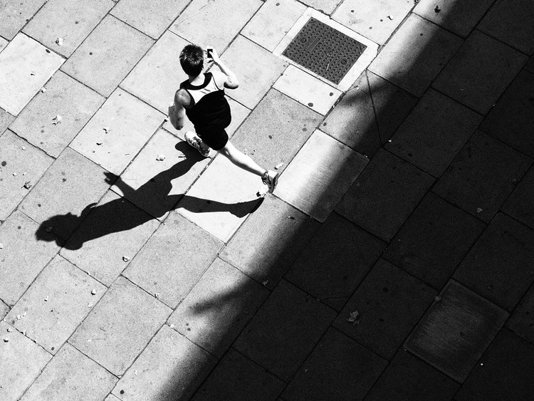 High Contrast Black And White Street Photography