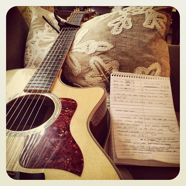 A little Sunday writing session. Feeling good about this tune! #sunday #music