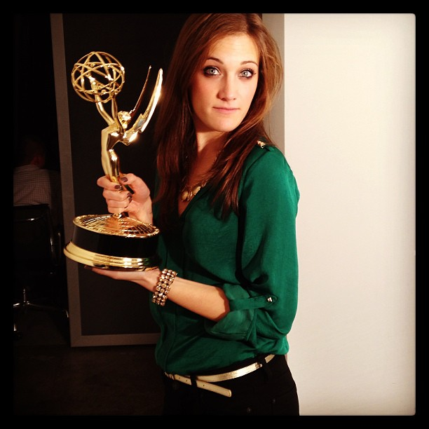 """I'd like to thank""….#realemmy #reallyheavy"