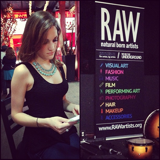 Getting ready for the RAW show!!