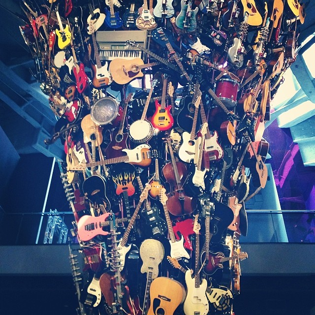 Guitar Art. Coolest thing ever. #seattle #emp