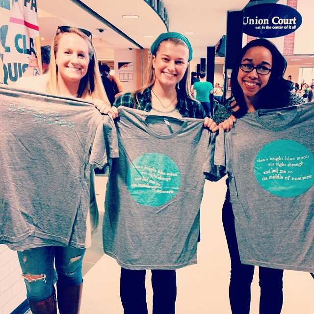 #tbt to a wonderful show at #unh! Reppin' some Sarah Miles shirts!!