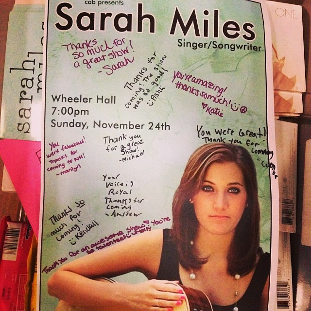 Thanks to the awesome students at #colbysawyercollege who made this great poster and signed it for me!  You guys rock! (at Colby-Sawyer College)