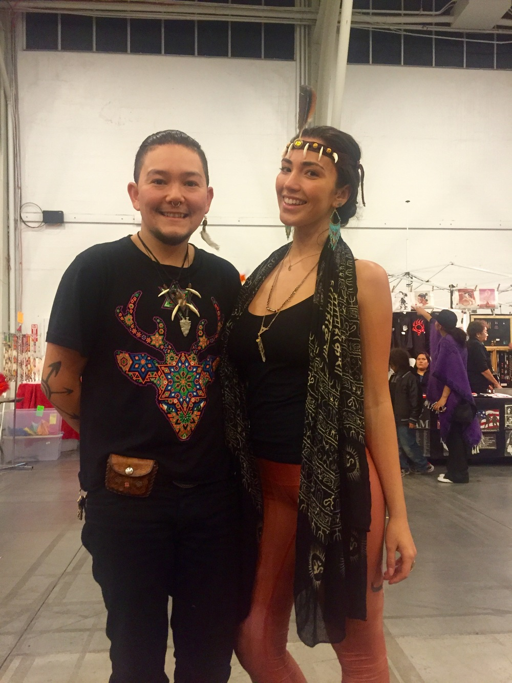 :: My big brother and I (rocking his headress/choker design) @ the Two Spirit Pow Wow at Fort Mason in San Francisco, CA ::