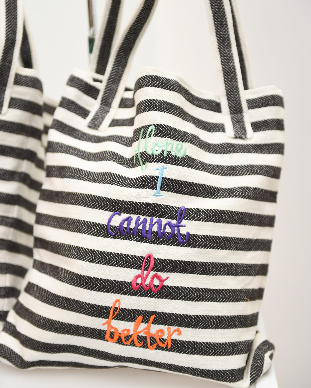 BB|AM, Zoë Buckman, and Mara Hoffman collaborate on a limited edition tote bag. Available for purchase  here . All proceeds go to goods for good;Photo credit: BFA.com