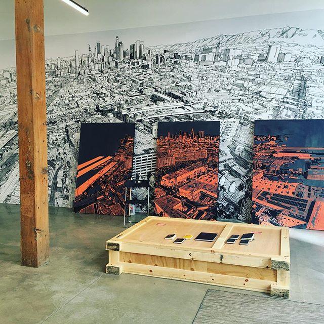 Congrats on an amazing installation @patrickvaleartist ! #rowdtla #residency