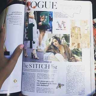 Check out #BBAM artist Zoe Buckman in the September Issue of @BritishVogue! Learn about featured exhibition 'Making & Unmaking' which closes today at London's @camdenartscentre. Curated by celebrated fashion designer and curator @duroolowu, the exhibition brought together over 60 international artists working in a diverse media. #Regram @Zoebuckman #Zoebuckman #CamdenArtsCentre #DuroOlowu #ContemporaryArt #BBAMLondon