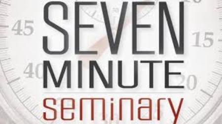 Seven Minute Seminary is an unbelievable video library! Here you will find concise answers to some of the most pressing questions today from leading biblical scholars, theologians, and practitioners.