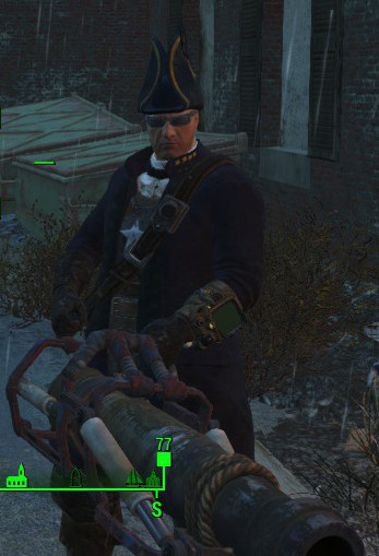 Fallout 4 is a serious game about serious subjects, so look at my serious outfit.