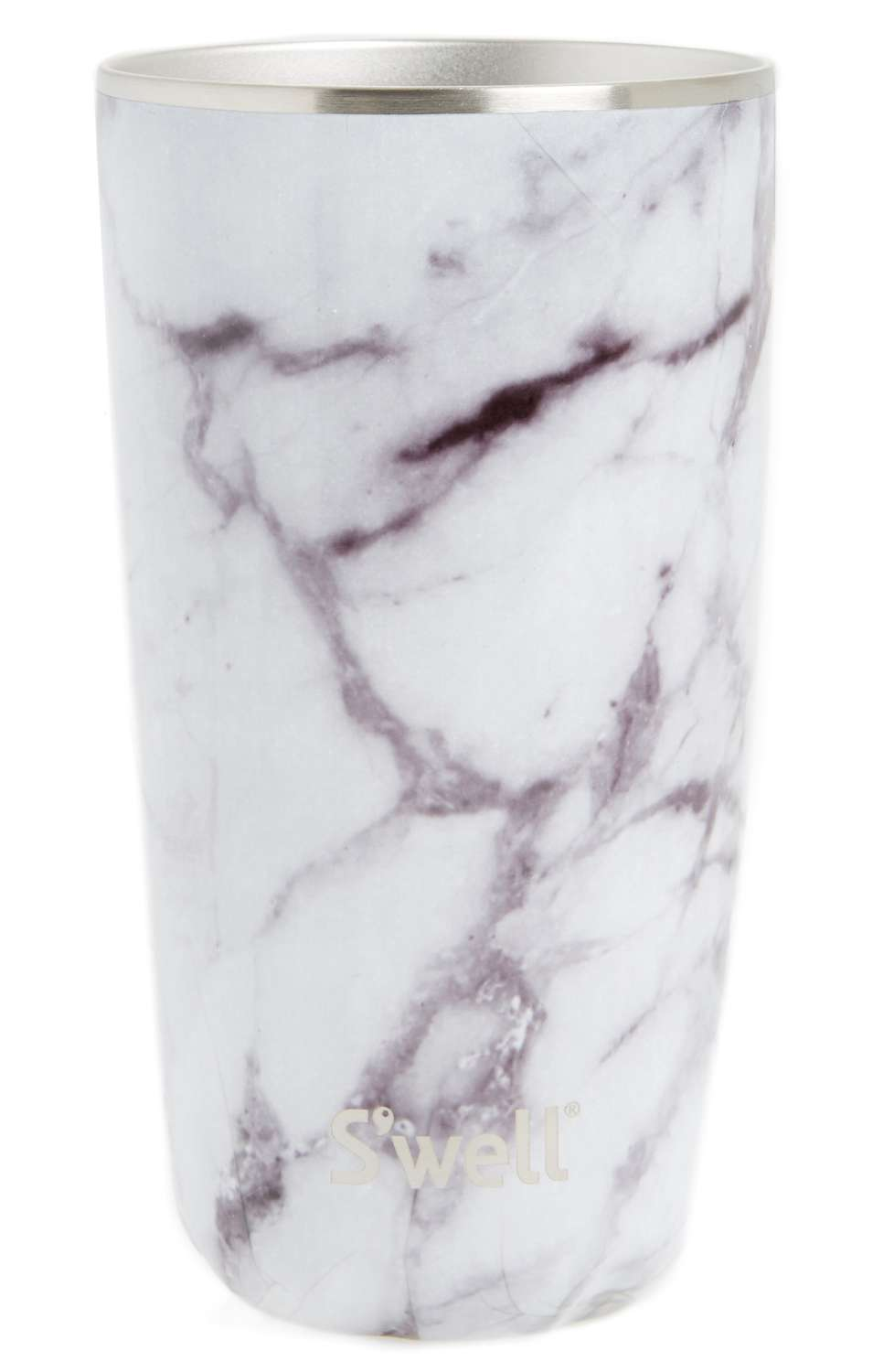 White Marble Insulated Tumbler