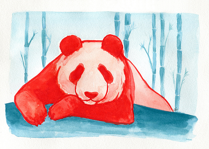 Panda Watercolor 1