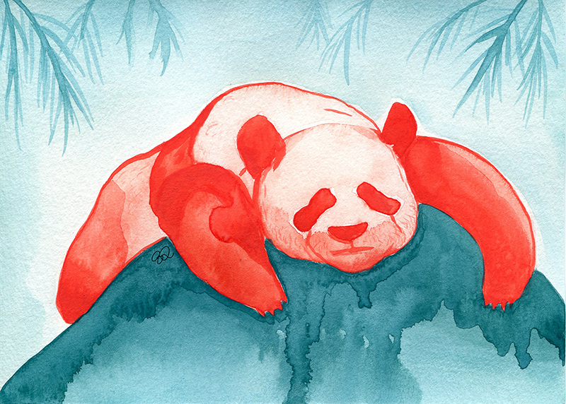Panda Watercolor 2