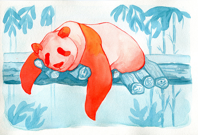 Panda Watercolor 3