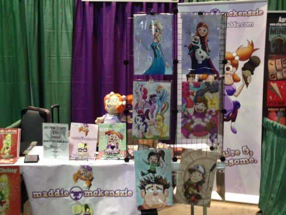 My Artists Coloy Booth at Connecticon