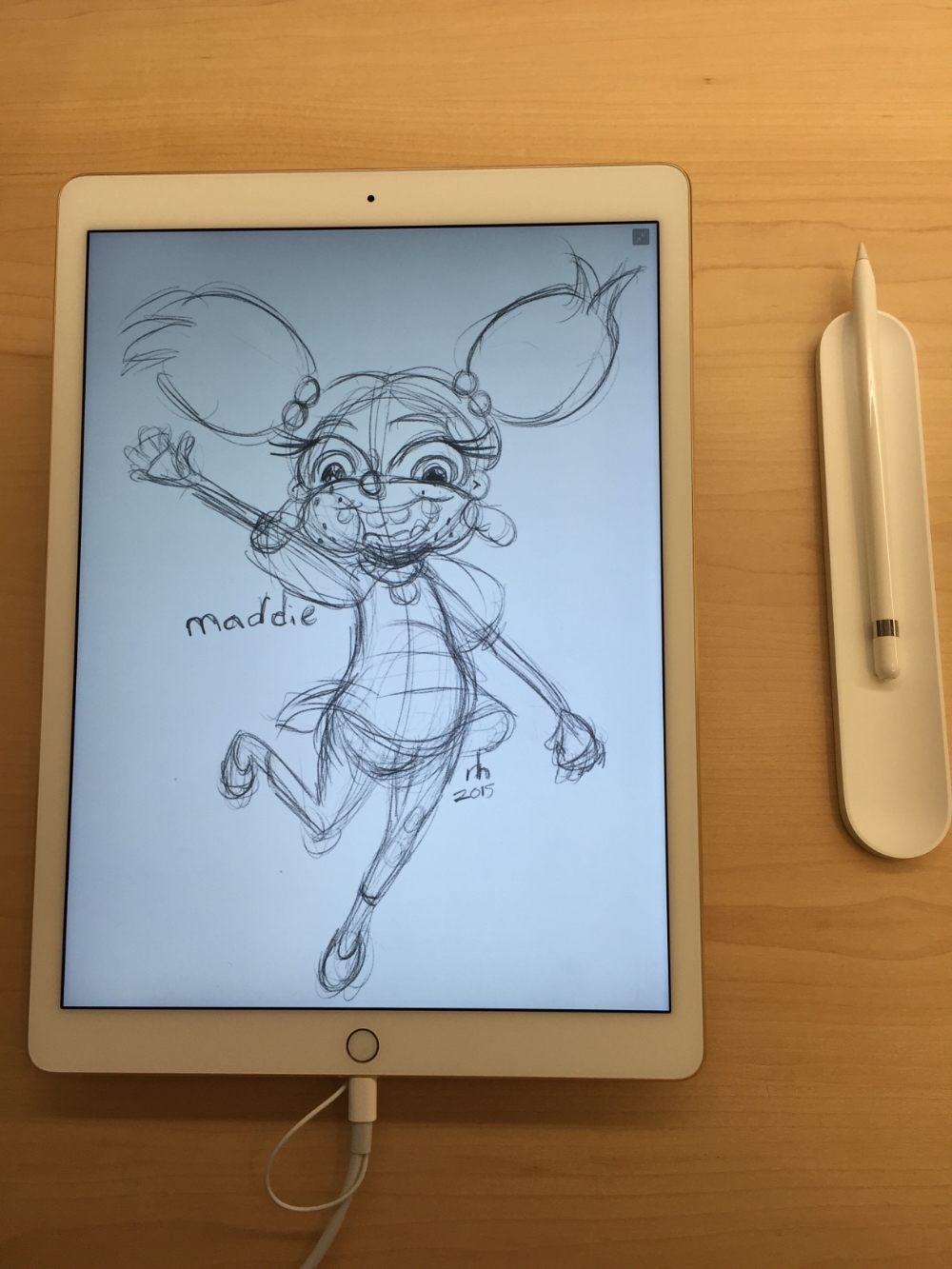 When I waited to get my hands on an Apple Pencil, I took it for a spin in store. I fell in love almost immediately.