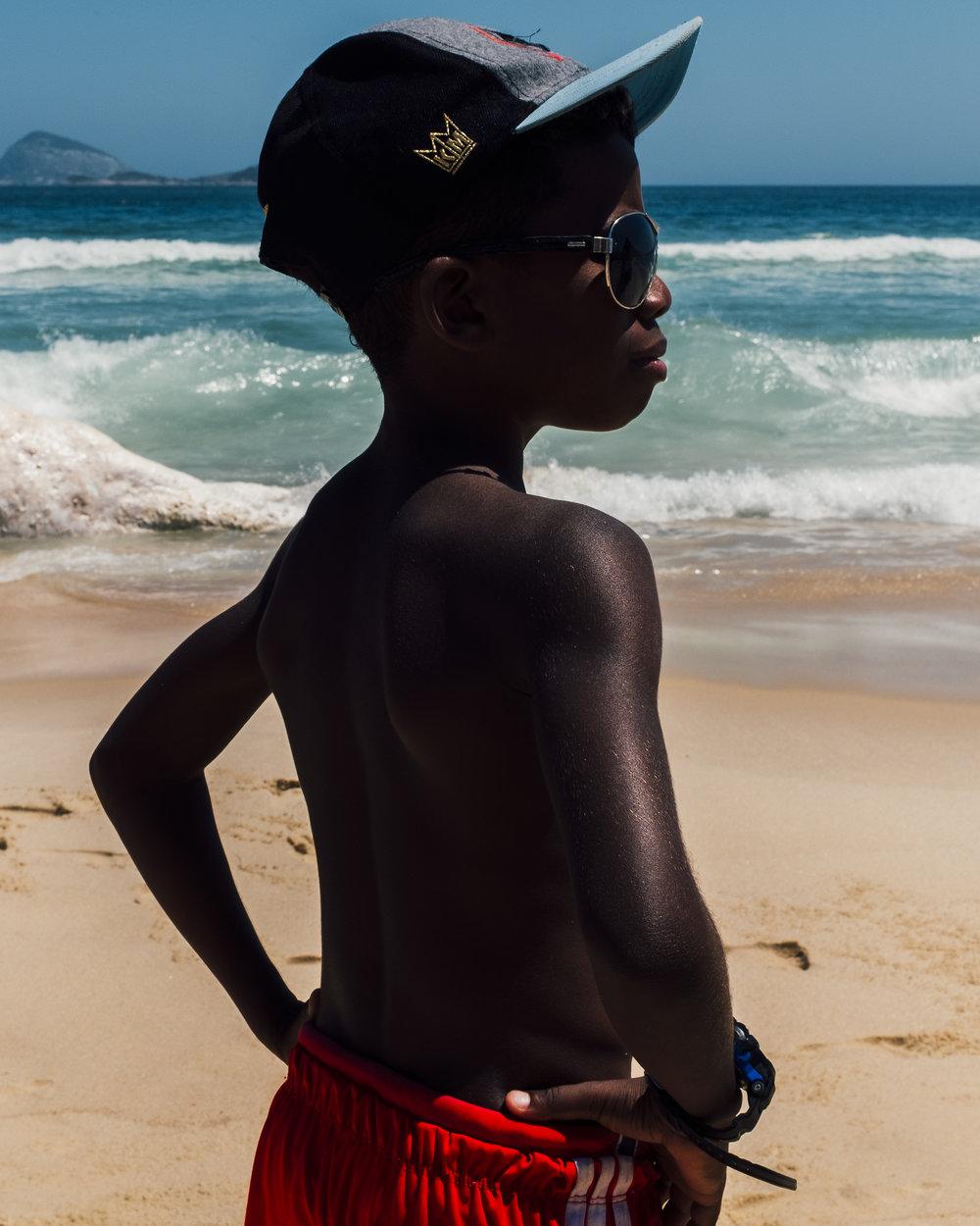 Infância na praia