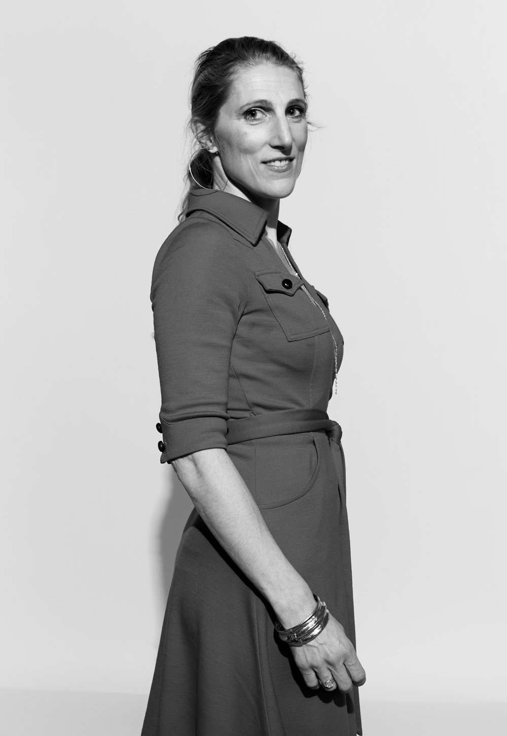 Dr. Vanessa Kerry photographed by Kate Owen black and white portrait #powertrip Marie Claire Magazine portraits of power