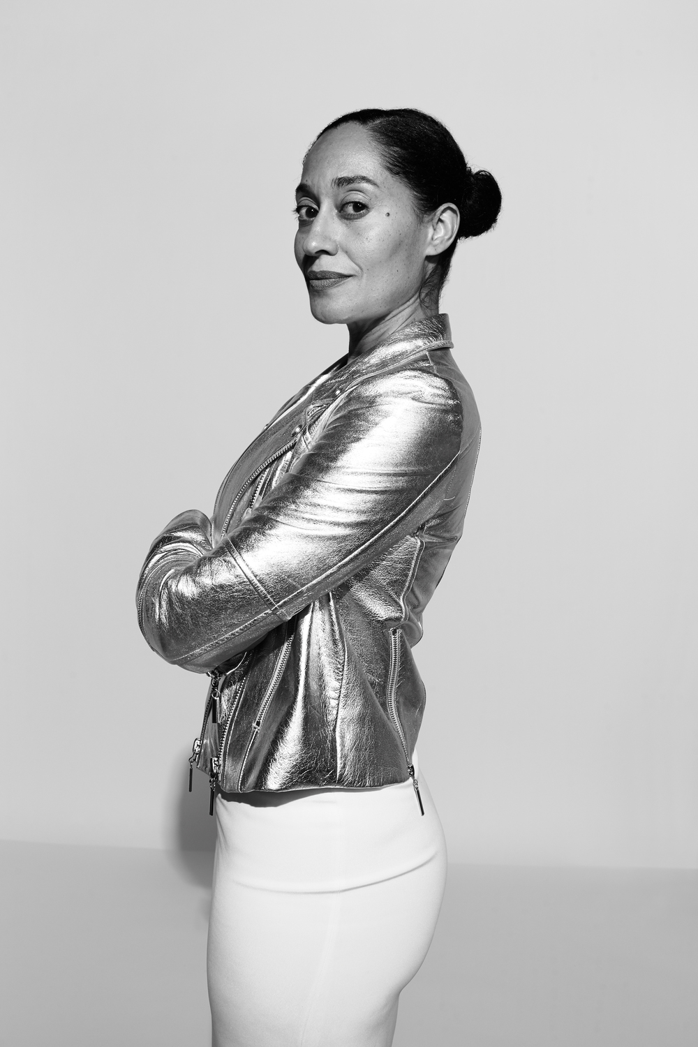 Tracee Ellis Ross photographed by Kate Owen black and white portrait #powertrip Marie Claire Magazine portraits of power
