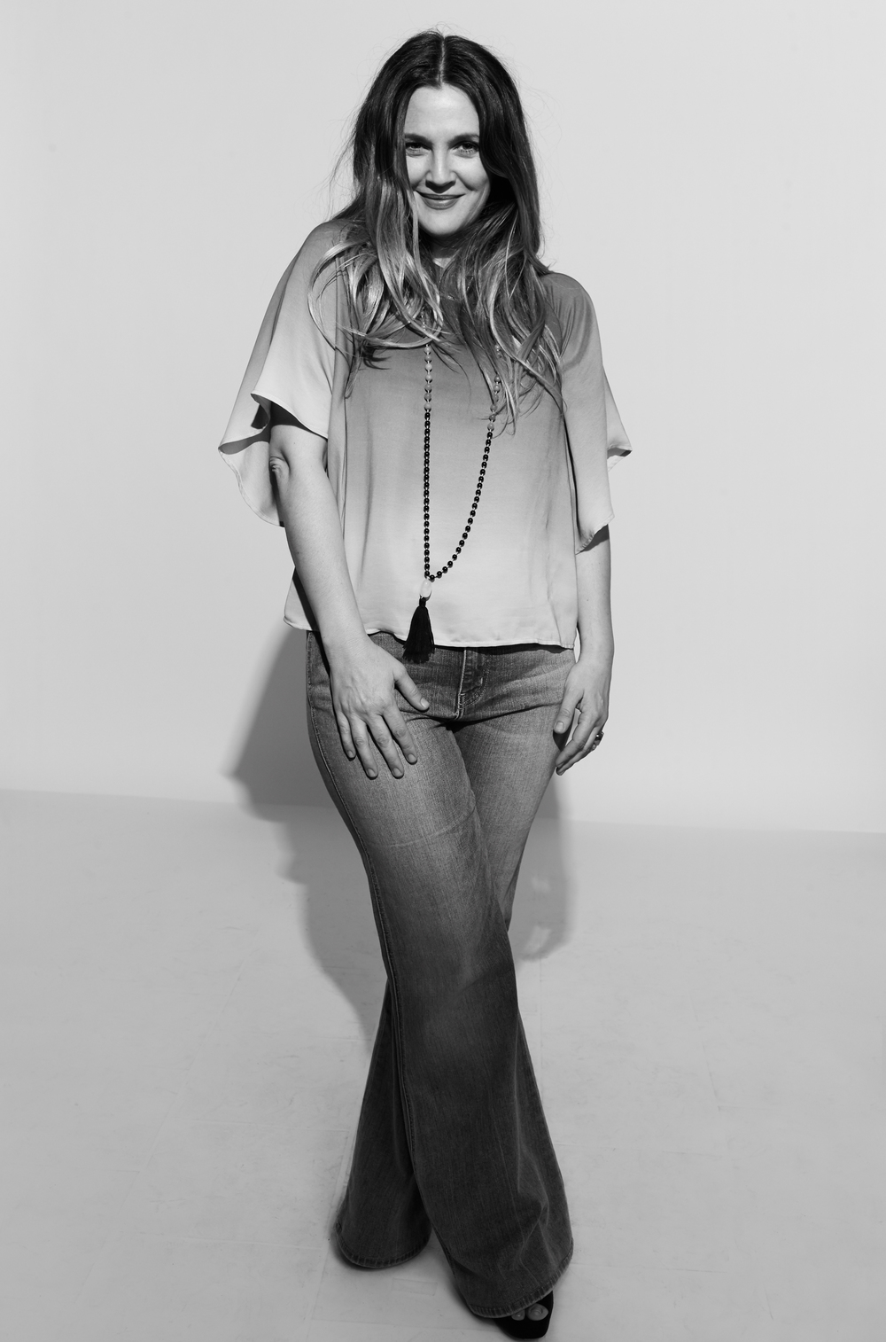 Drew Barrymore photographed by Kate Owen black and white portrait #powertrip