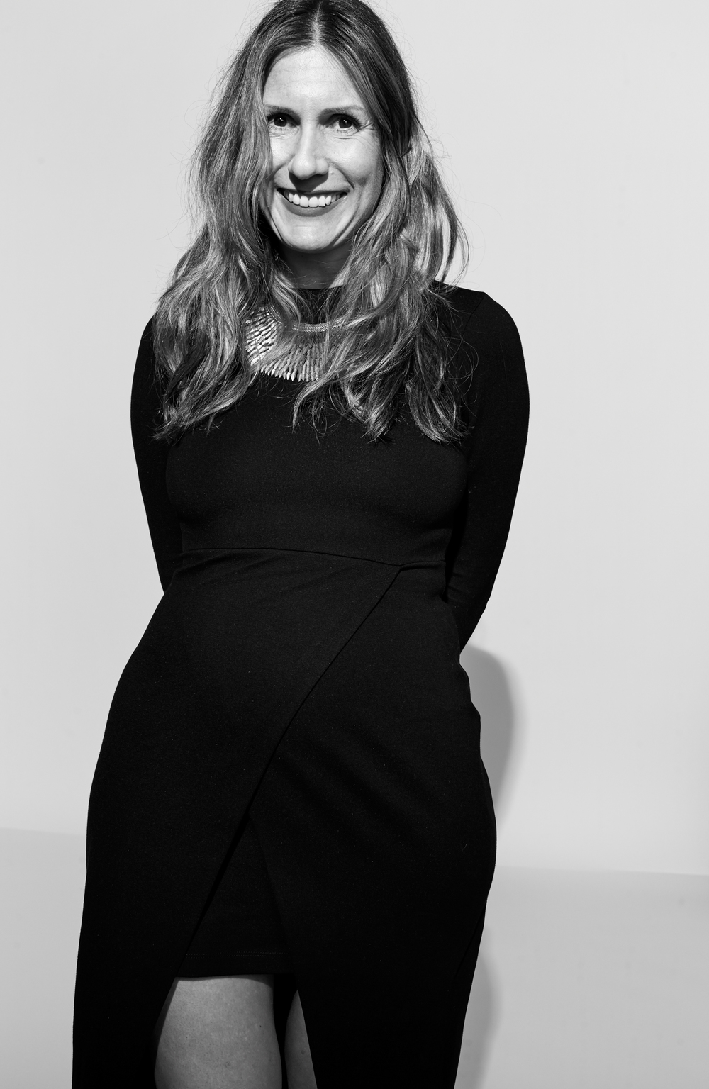 Anna Rosenflack photographed by Kate Owen black and white portrait #powertrip Marie Claire Magazine portraits of power