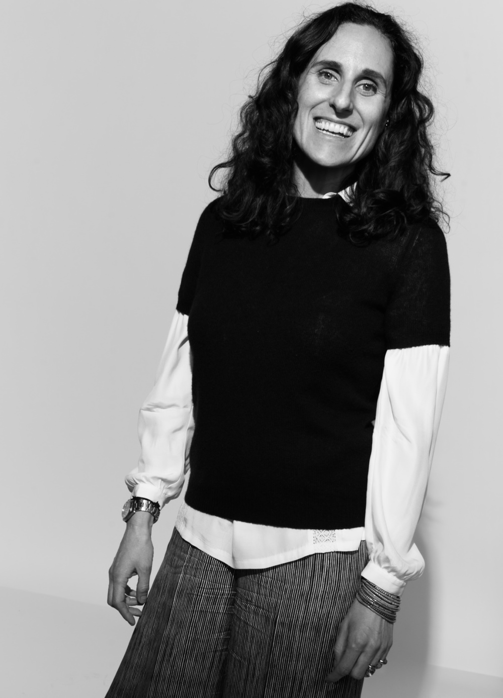 Giovanna Noe photographed by Kate Owen black and white portrait #powertrip Marie Claire Magazine portraits of power