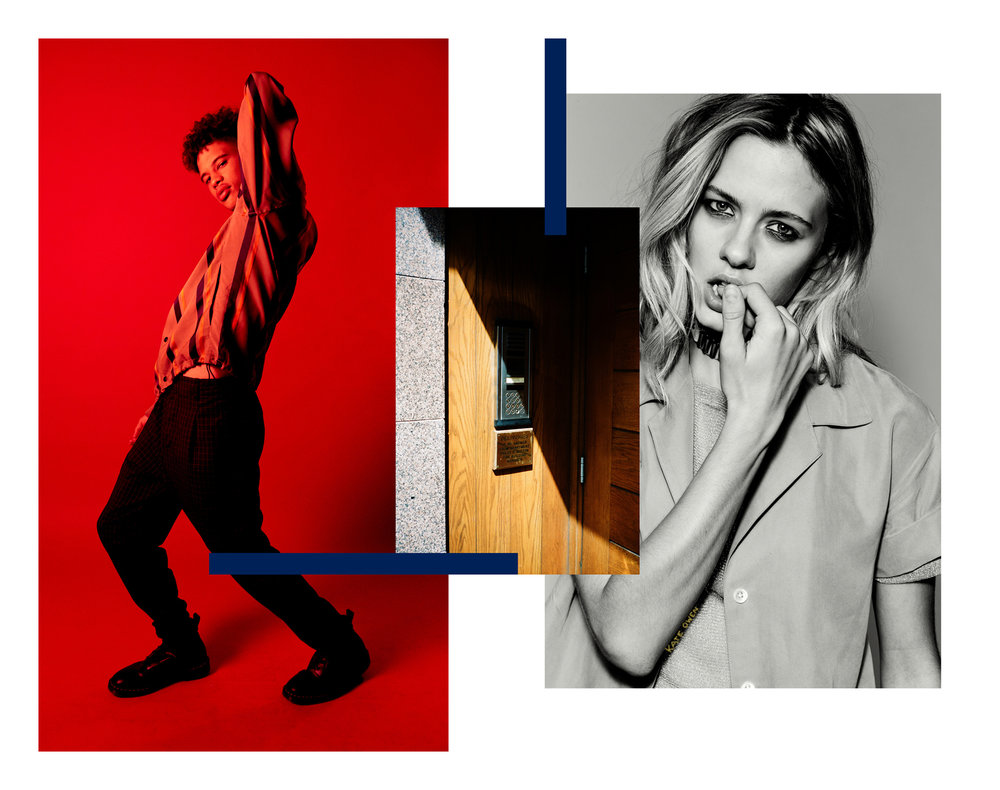 KATE OWEN | NYLON | FASHION CAMPAIGN | RED / collage