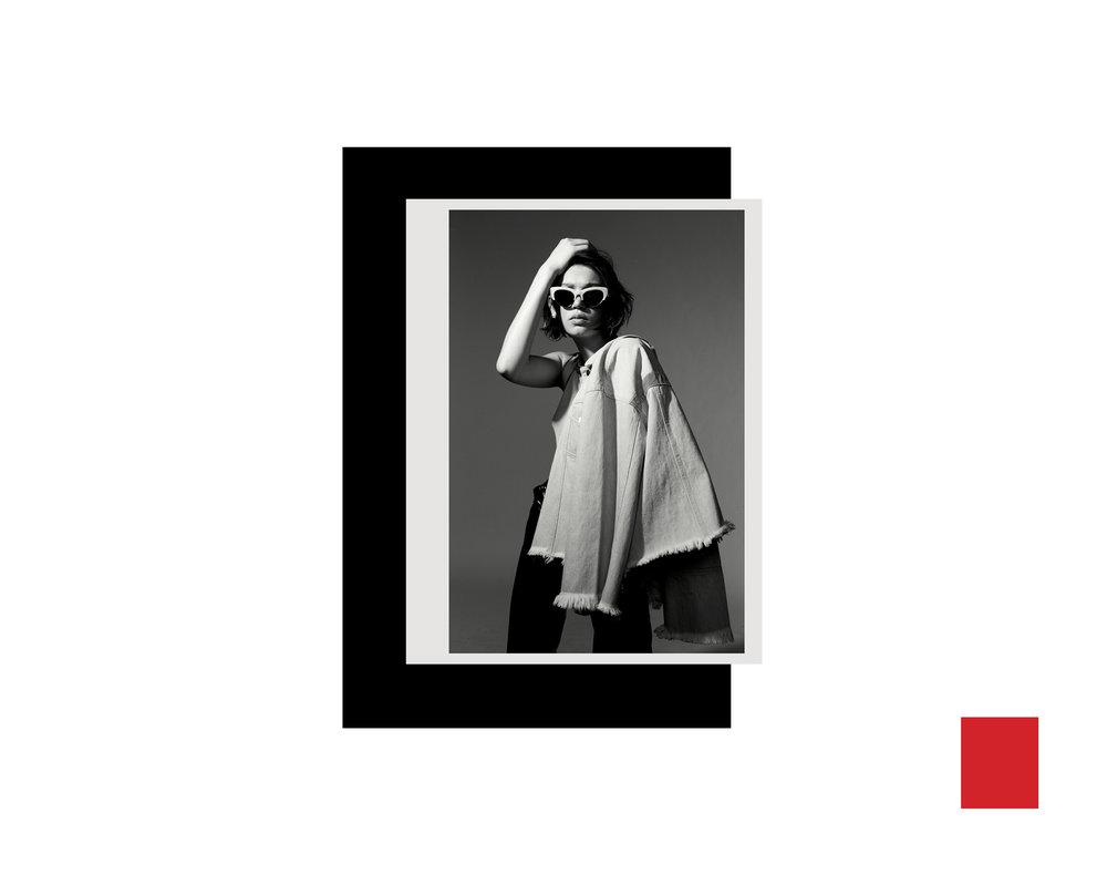 KATE OWEN | NYLON | FASHION CAMPAIGN | RED / collage