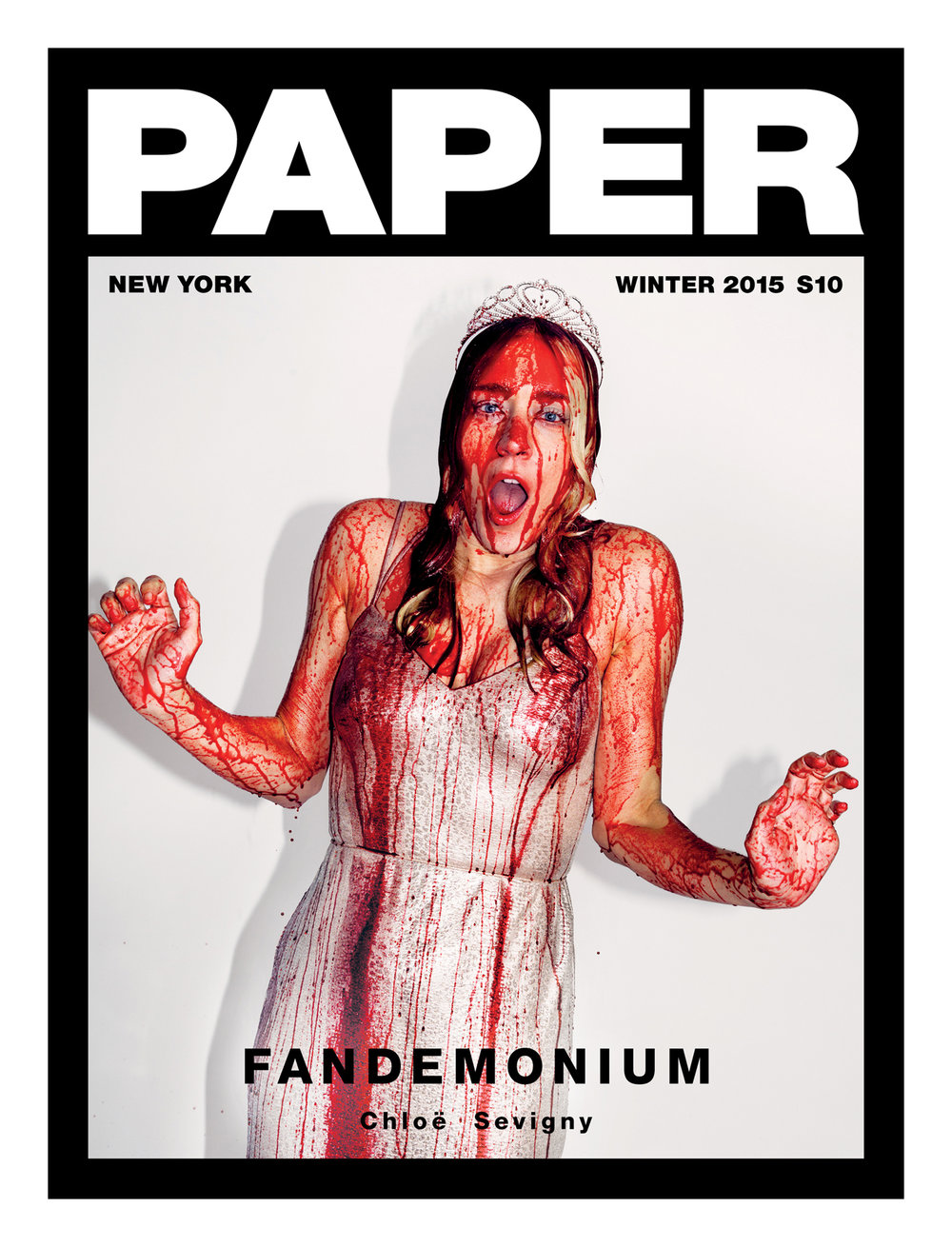 KATE OWEN | CHLOE SEVIGNY | CARRIE | BLOOD | PAPER MAGAZINE | COVER STORY