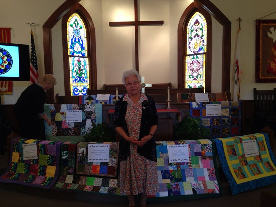 Quilt Ministry   Each knot is a prayer. You are invited to request a quilt for someone in need of prayer. You are encouraged to tie knots as you pray for the recipient.Quilters meet the  2nd Saturday from 9am-12pm.
