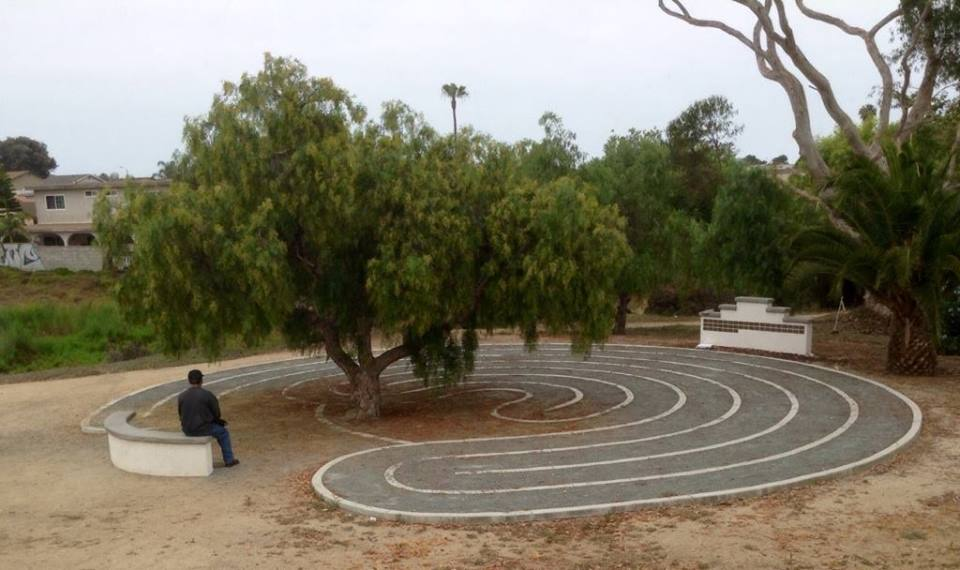 Labyrinth   Everyone is welcome to walk the labyrinth. There is no right way to walk a labyrinth. Adults are often serious, walking slow and with prayerful thought, Children often run through playful and joyous. Come, walk the labyrinth, think and pray, and enjoy the process.
