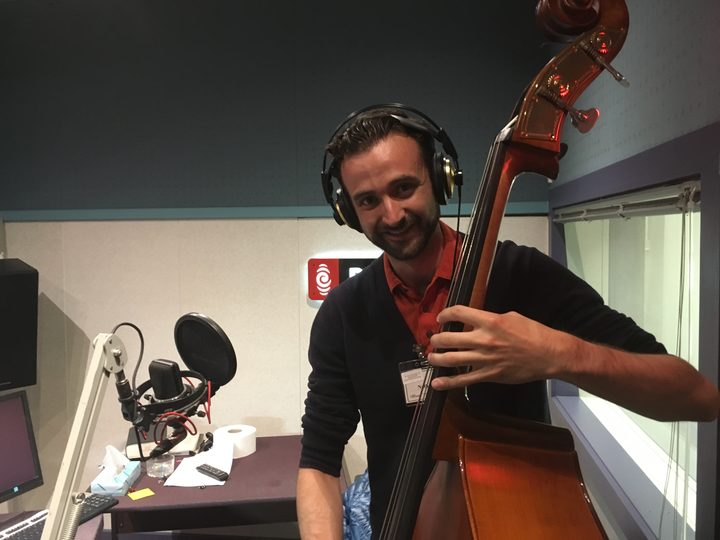 In the Radio New Zealand studio performing live on Jesse Mulligan's Afternoon program. Click here to listen to the  podcast