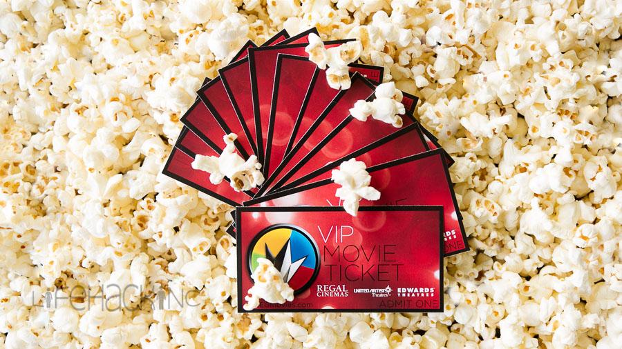 LifeHack INC how to buy - bulk tickets and popcorn.