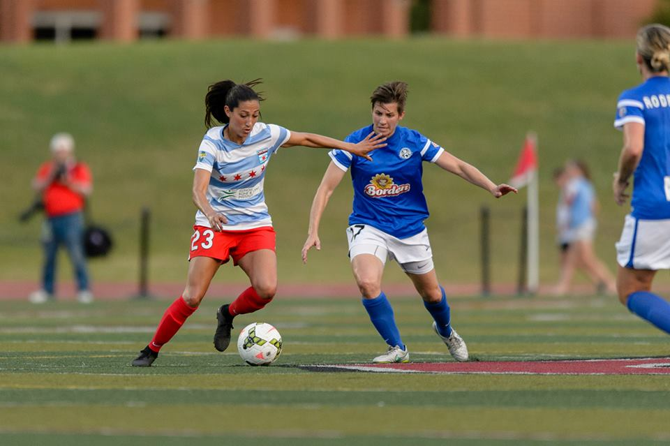 Press and LePeilbet. Two of the league's most efficient goal scorers... Photo by Daniel Bartel | Courtesy of Chicago Red Stars