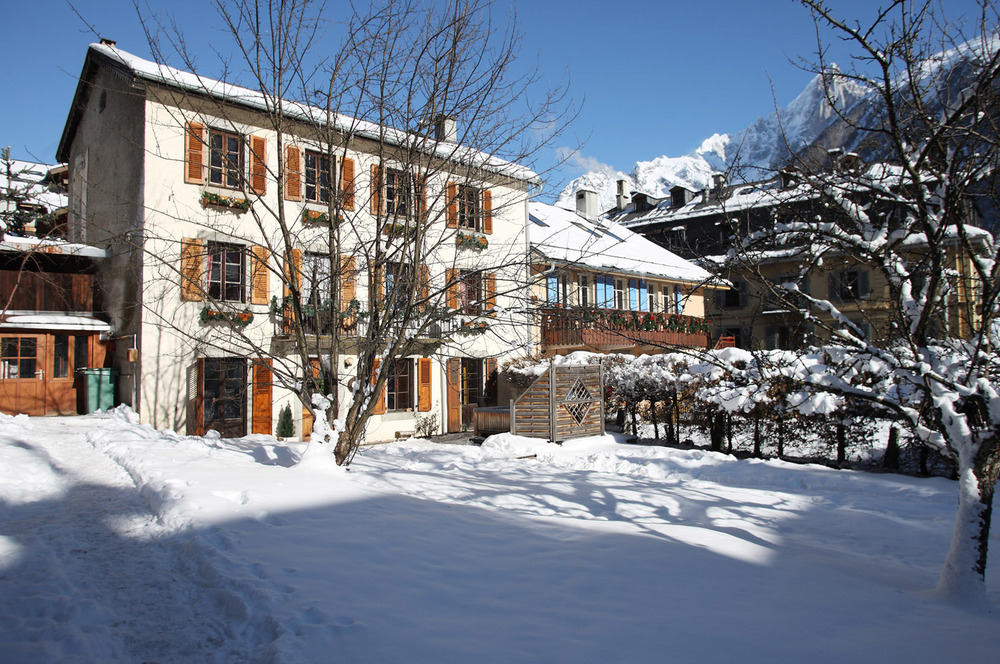 Chalet Cachat and gardens