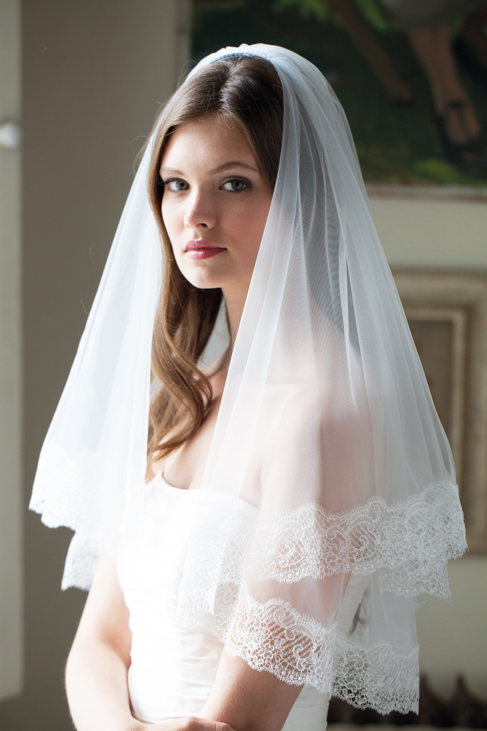 Style is forever. And having a vintage veil for the big day is a timeless classic.