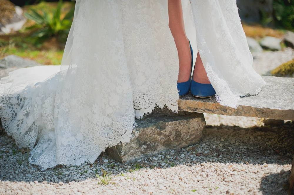 A lovely shoe in the right blue can add a stunning pop of colour for your big day.