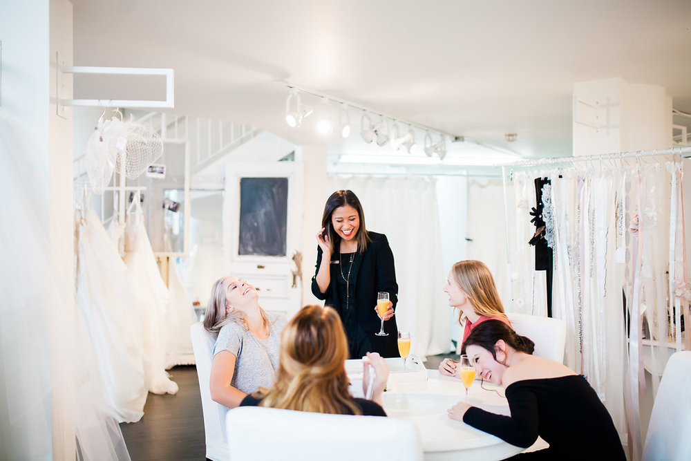 Meet Joan - What made you start working in the bridal industry?Since I was little, I was always around my mom designing dresses. After being disappointed with the options in Victoria for brides when I was shopping for my own dress, I knew I could make it better. I wanted to make buying a wedding dress more enjoyable, stress free and fun and so Tres Chic Bridal was born.  What is your Favourite Dress in store?The Idina dress from Lis Simon What is your favourite 2017 wedding trend?Greenery. I love simple arrangements of leaves, branches or palms in wedding decors. What is your Guilty Pleasure? Watching Korean shows.LOL Are you a dog or a cat person?Of course dogs!!! What is your favourite thing to do to unwind?Watch Korean shows for hours! hahaha What is your winter essential?Oversized cardigan and ankle boots