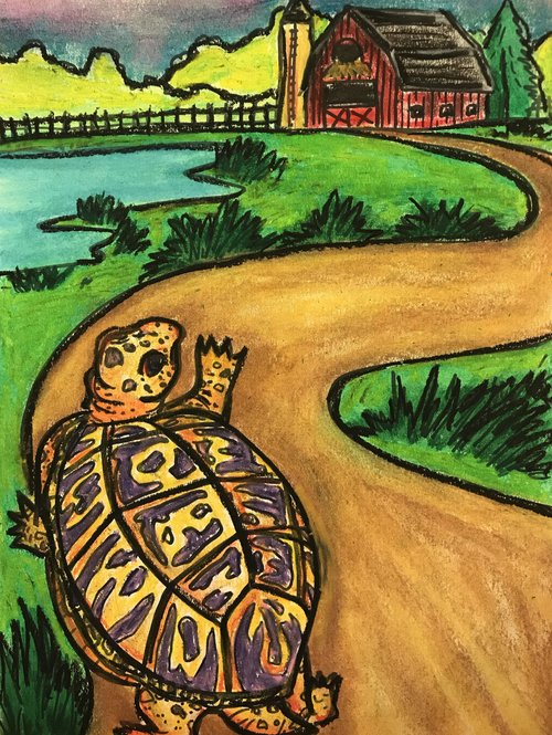 Art Theme:  Box Turtle    Writing Theme: Descriptive
