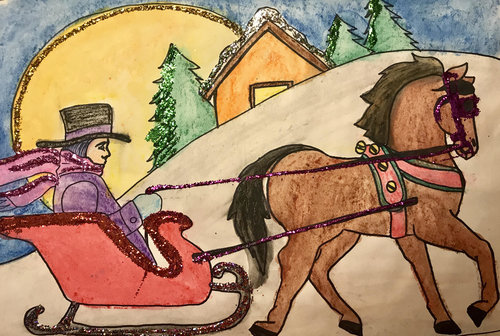 Art Theme:  Horse and Sleigh    Writing Theme:  Letter writing